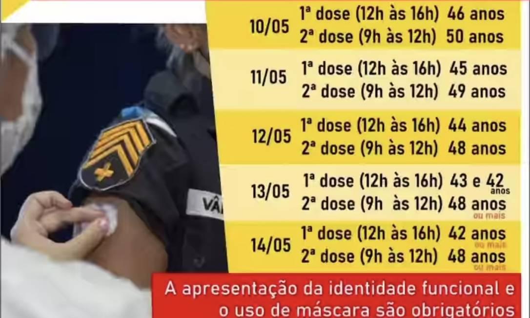 IMAGEM: PM do Rio descumpre decisão do STF e continua a vacinar agentes