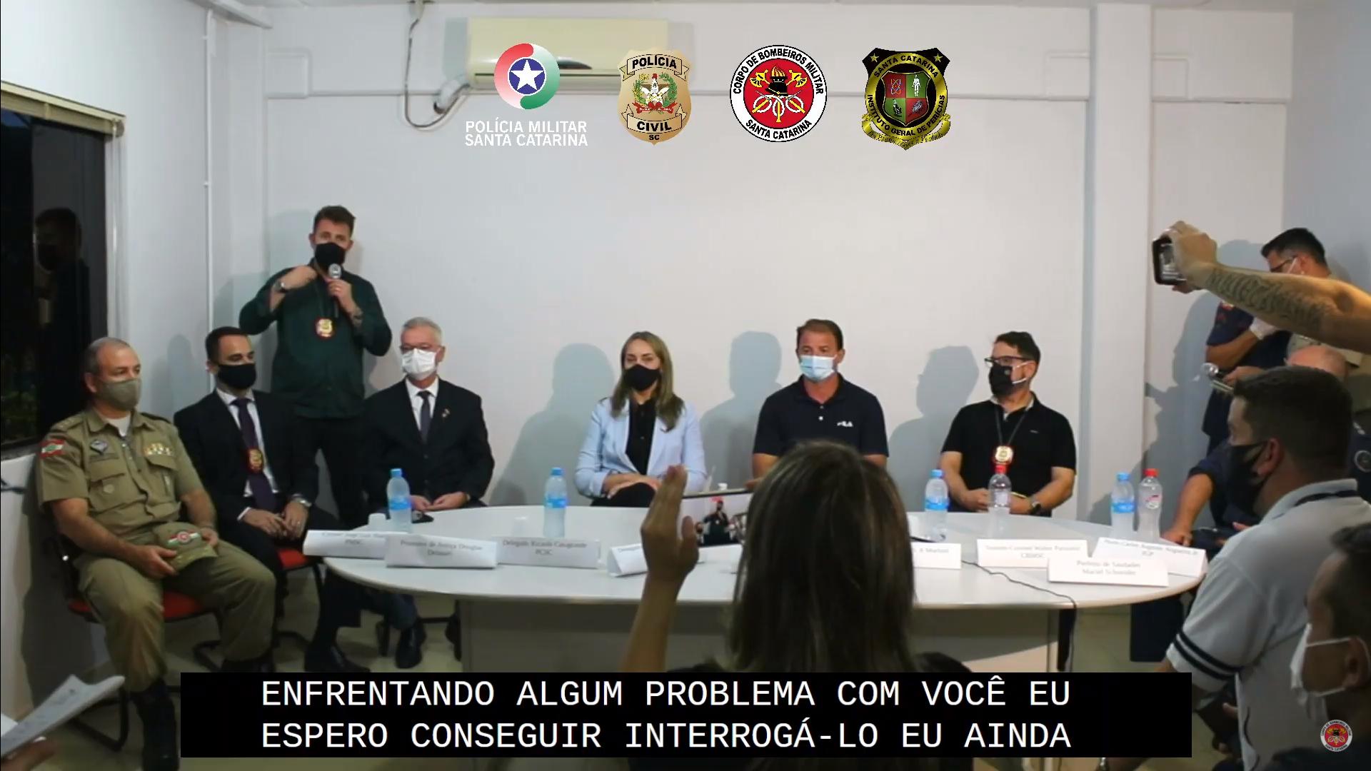 IMAGEM: Delegado espera interrogar autor de ataque na creche em SC
