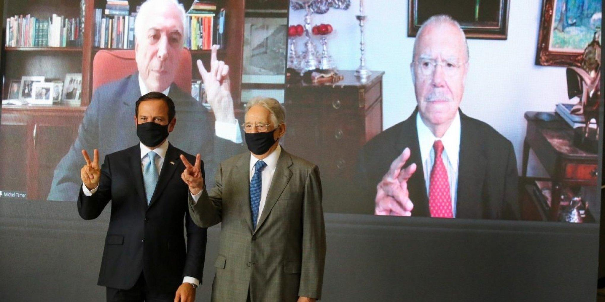 IMAGEM: Em reunião com Doria, FHC apoia candidatura do PSDB em 2022