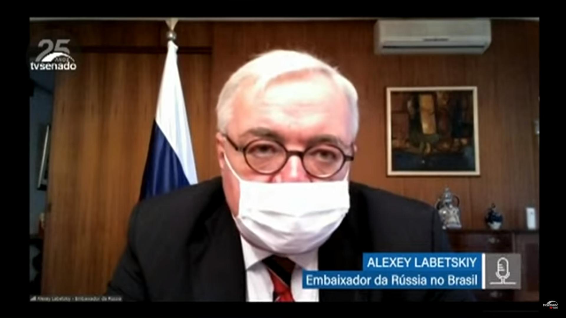 IMAGEM: Embaixador da Rússia diz estar 'otimista' sobre Sputnik V