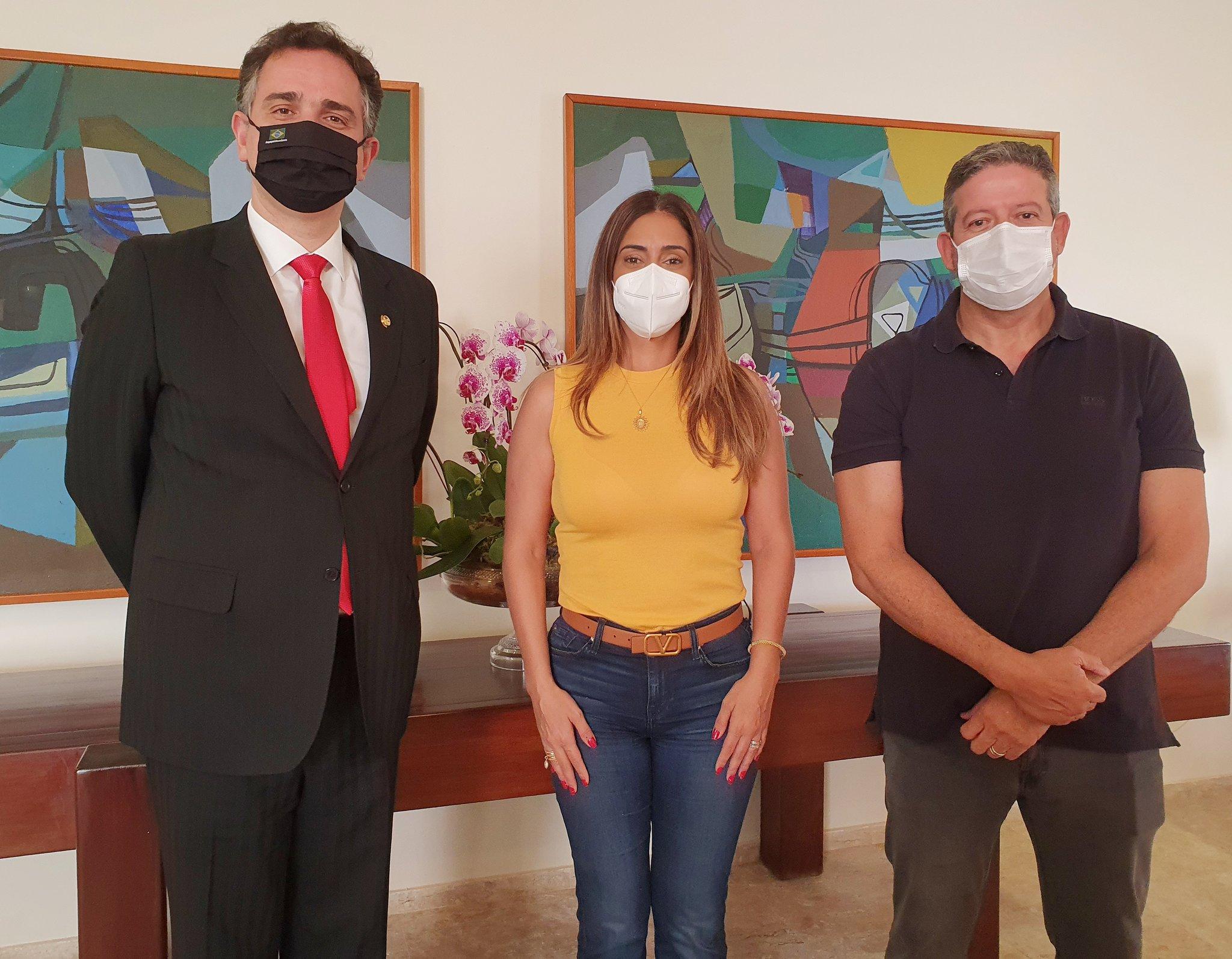 IMAGEM: Pacheco recebe Lira e Flávia Arruda para discutir reforma tributária