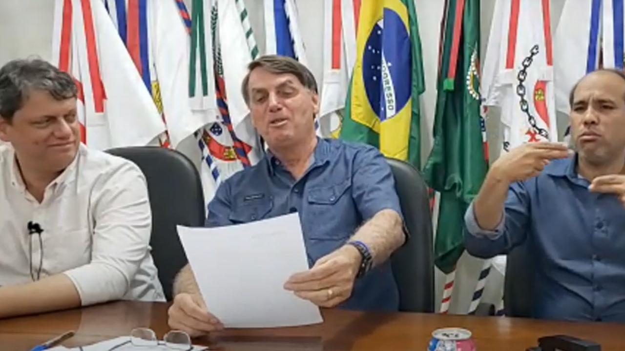 IMAGEM: Bolsonaro na CPI