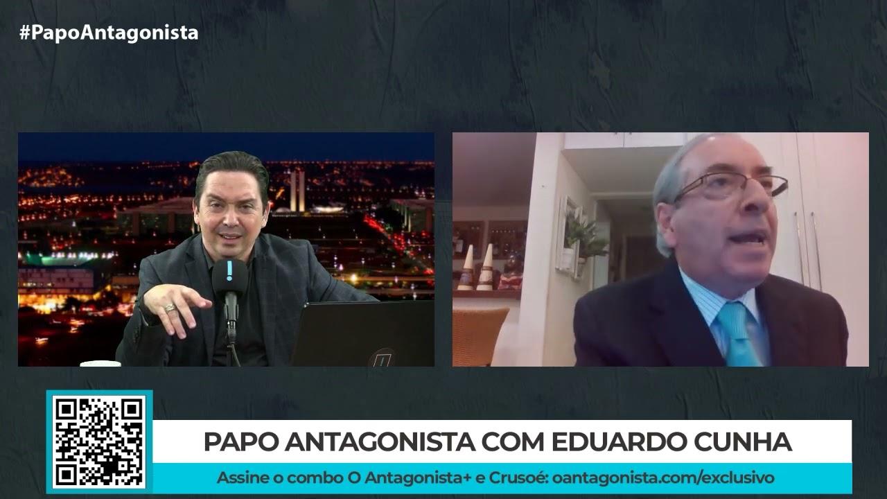 """IMAGEM: No Papo Antagonista, Eduardo Cunha criticou Moro, defendeu Bolsonaro e disse que Bolsolão """"sempre existiu"""""""