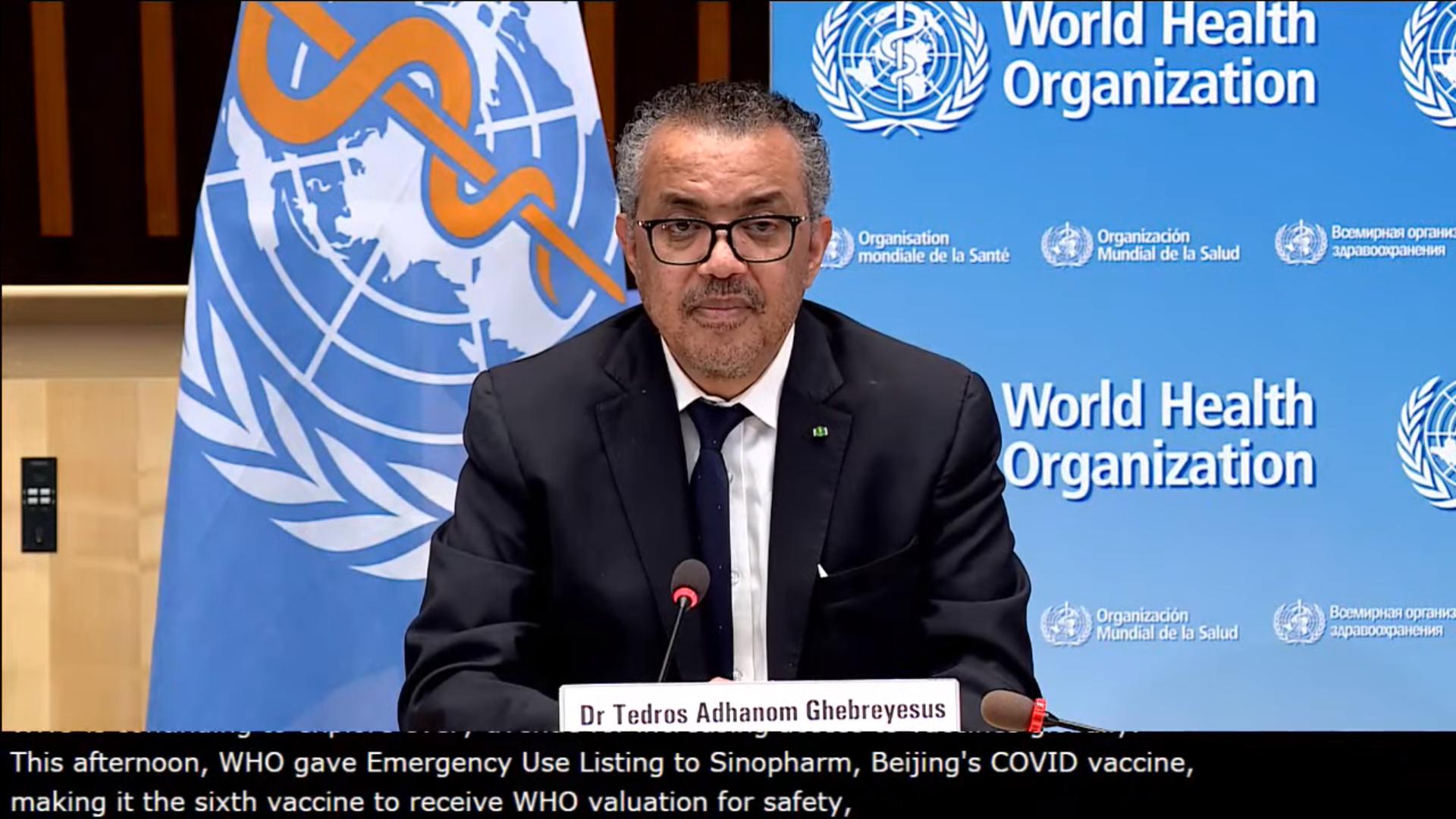 IMAGEM: OMS aprova uso emergencial da vacina da chinesa Sinopharm