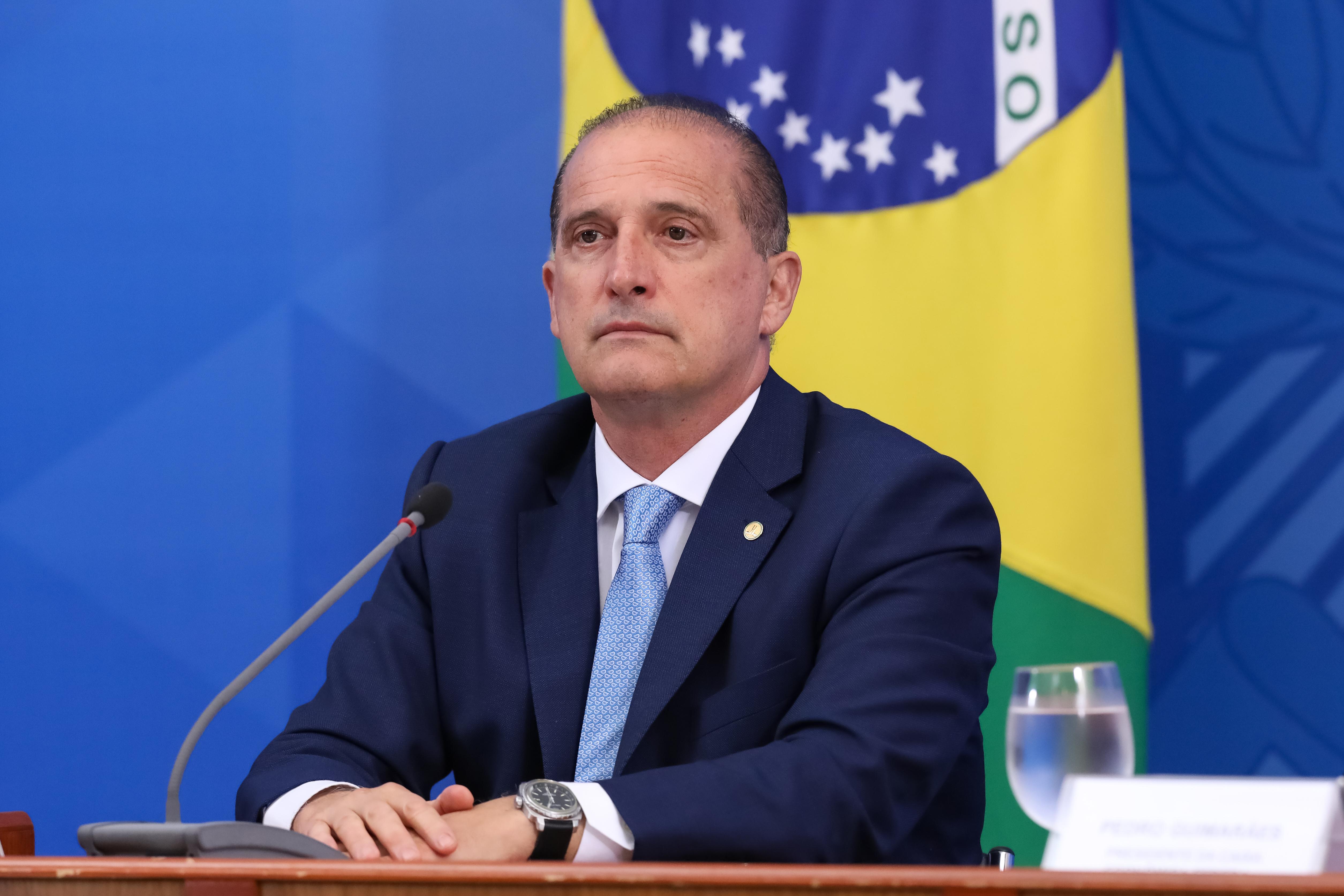 IMAGEM: Bolsonaro diz que Onyx está com 'tempo livre'