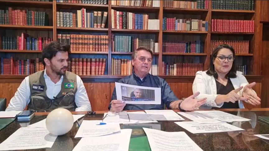 IMAGEM: Bolsonaro conta meia verdade sobre estudo da ivermectina por Oxford