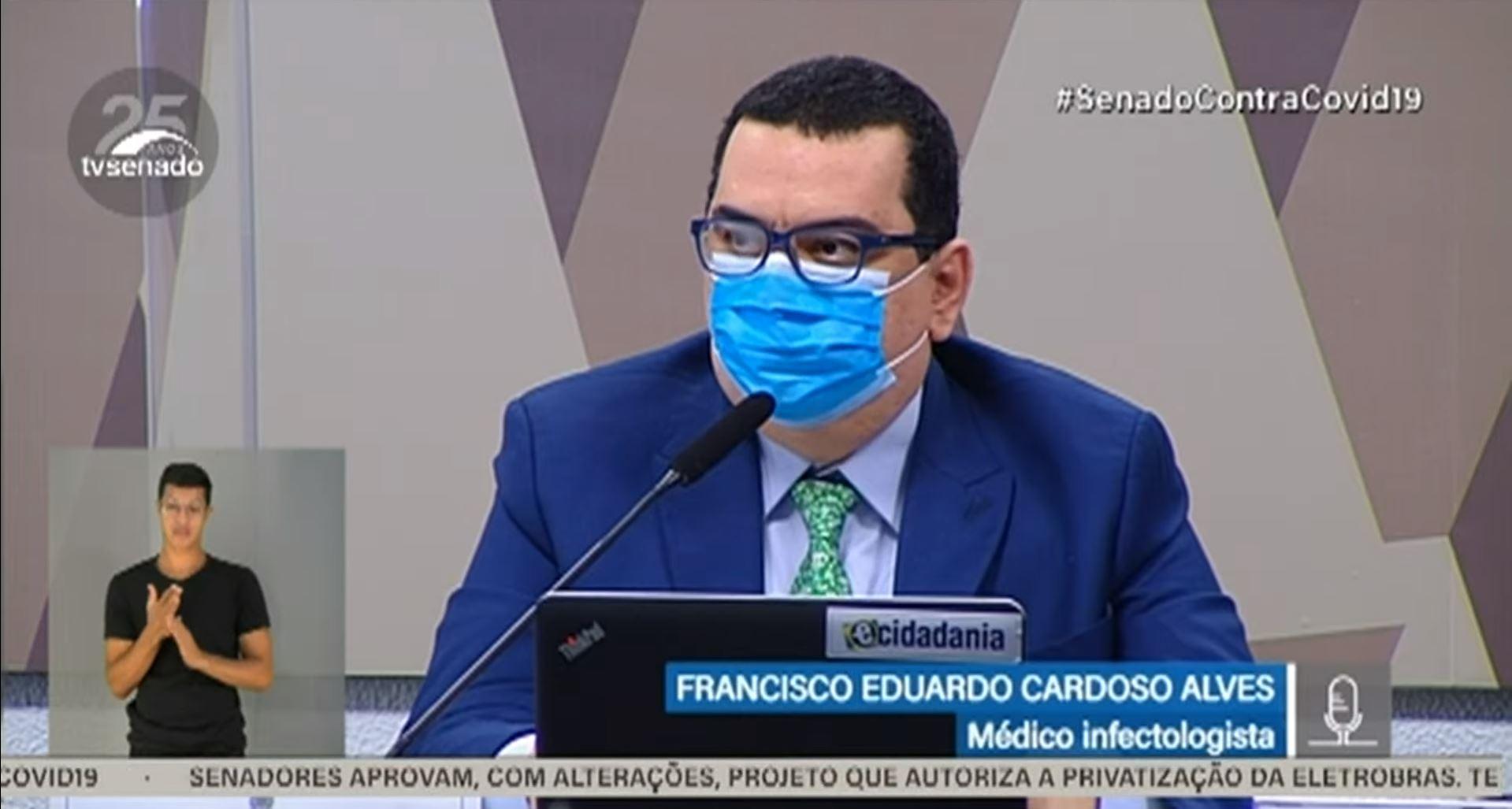 """IMAGEM: """"Extremamente ofensiva"""", diz infectologista na CPI, sobre Luana Araújo"""