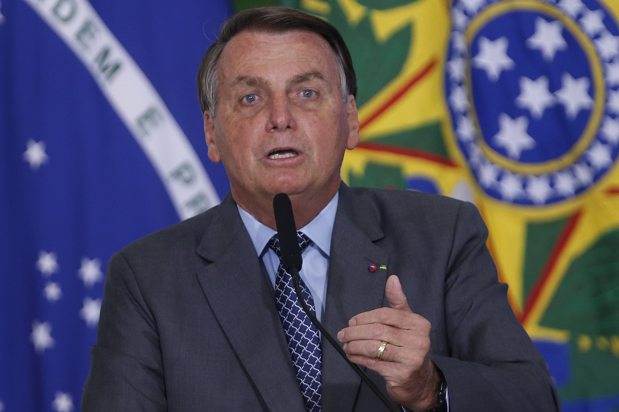 IMAGEM: 'Não tem cabimento', diz Bolsonaro, sobre 'passaporte da vacinação'