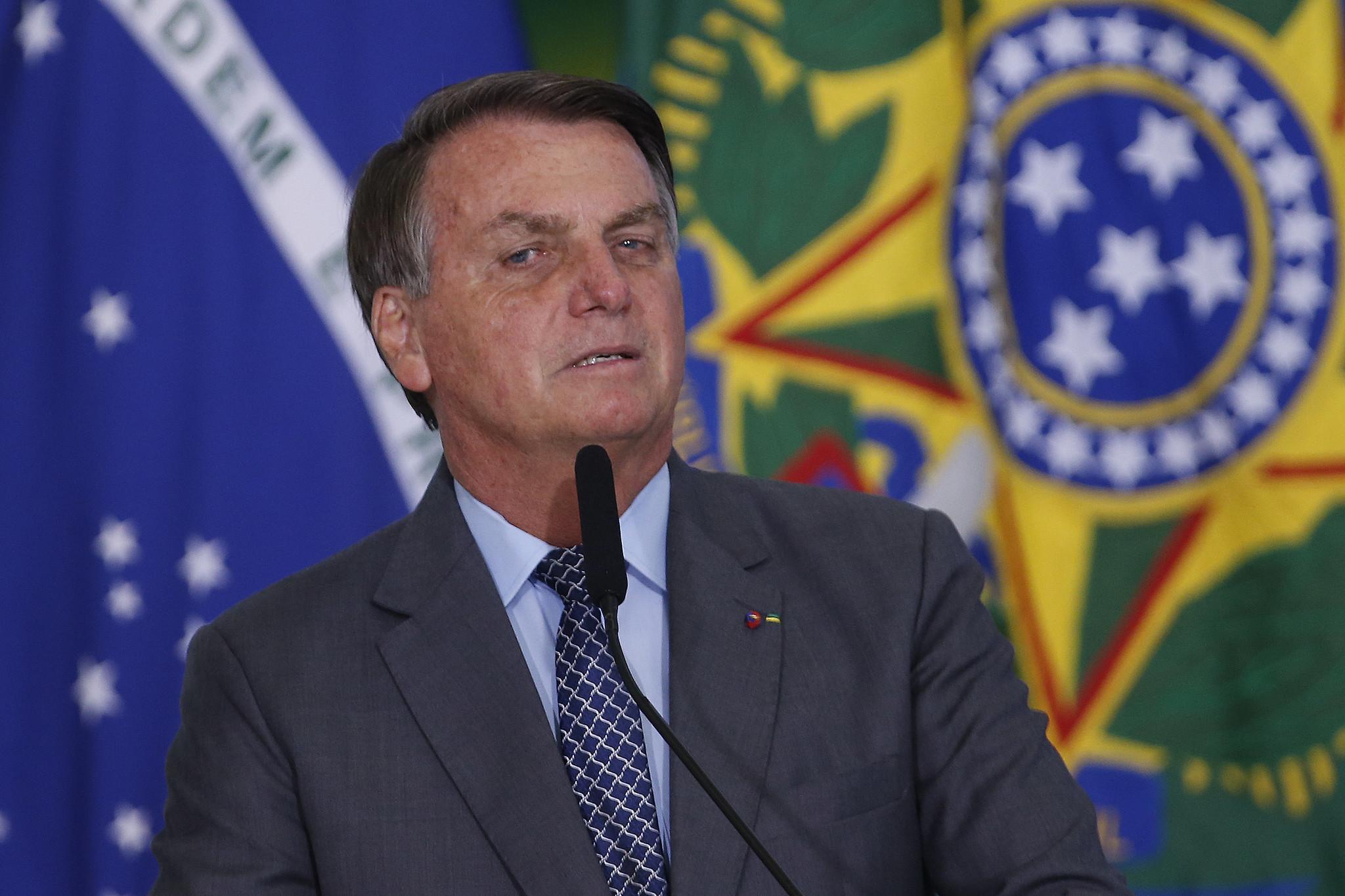 IMAGEM: Bolsonaro promete 'juros lá embaixo' para PMs comprarem casa própria