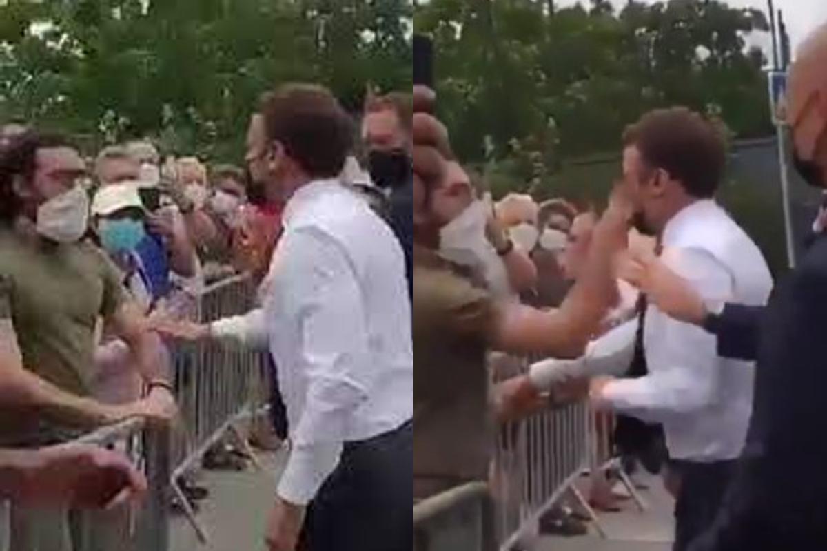 IMAGEM: Homem que agrediu Macron é condenado a 18 meses