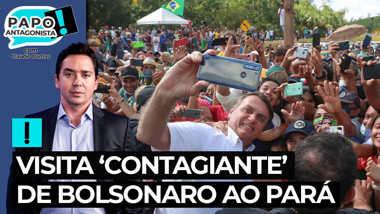 IMAGEM: Bolsonaro faz visita contagiante ao Pará