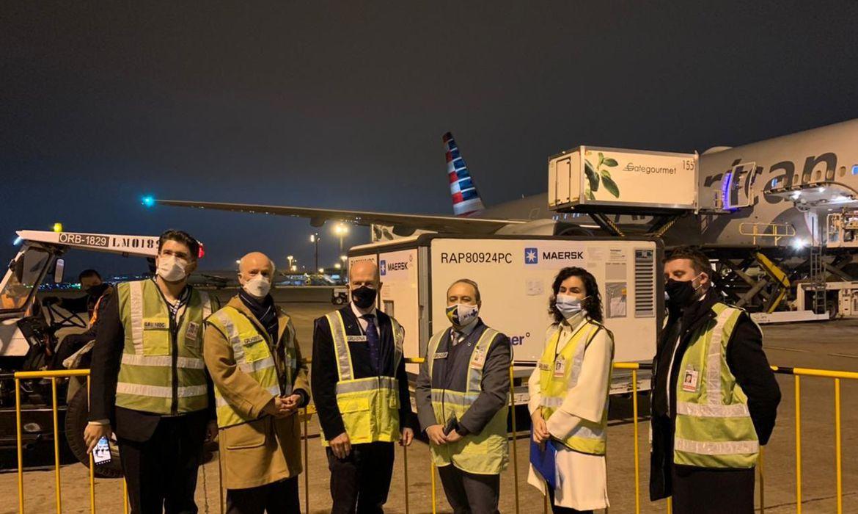 IMAGEM: Brasil recebe doação de 47 mil itens de kit intubação da Irlanda