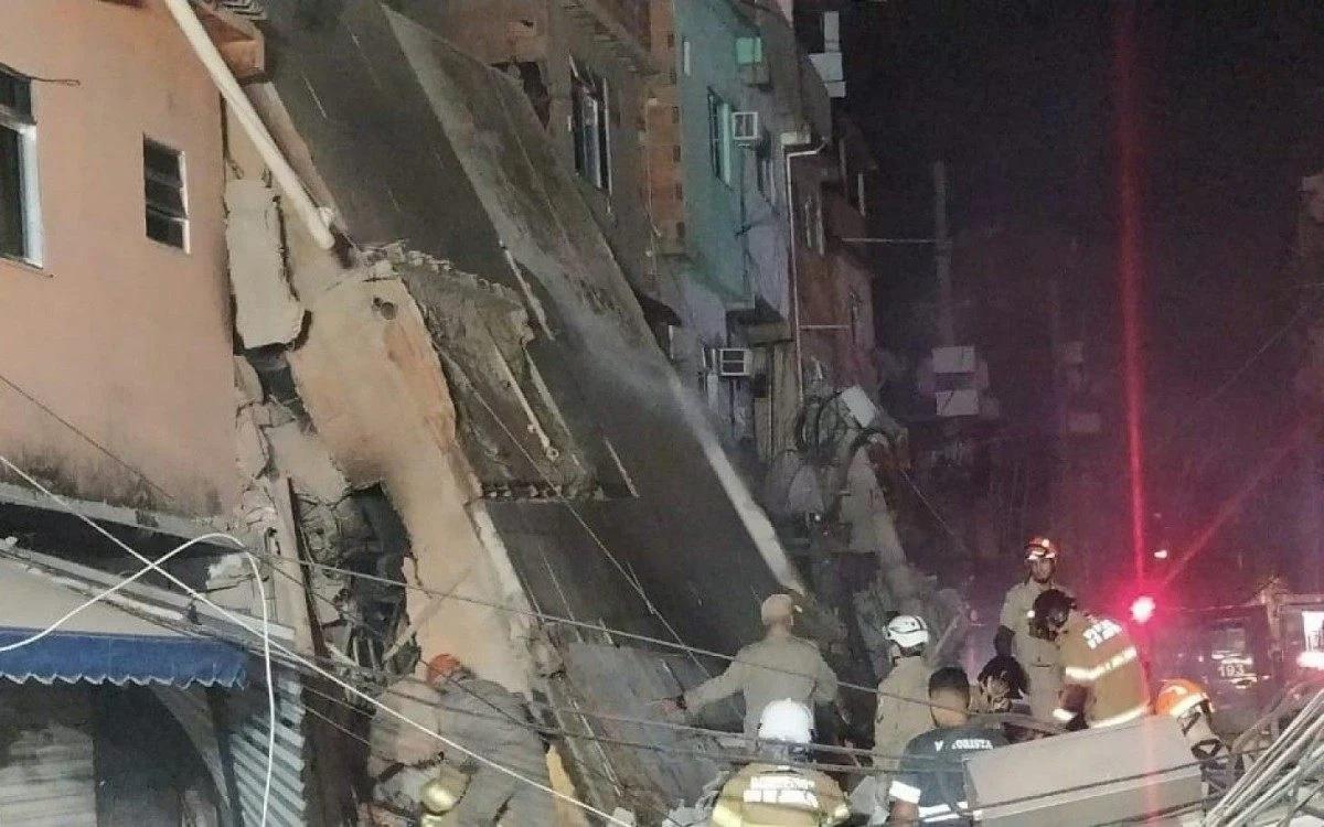 IMAGEM: Polícia abre inquérito para apurar desabamento de prédio em Rio da Pedras