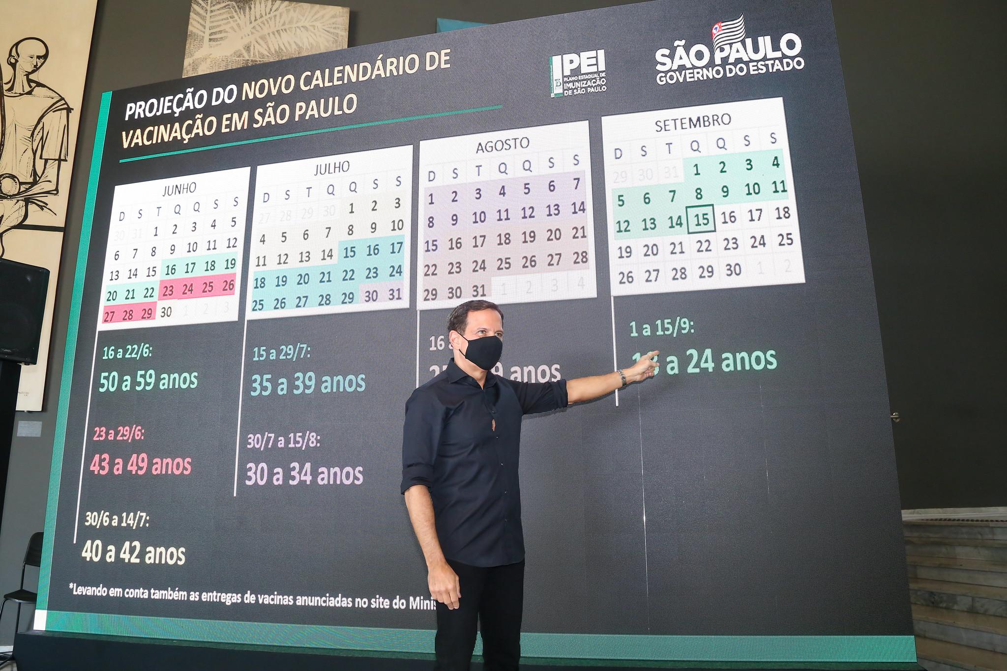 IMAGEM: Doria antecipa calendário de vacinação mesmo sem previsão de mais doses