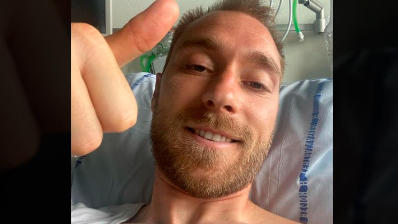 IMAGEM: Após passar por cirurgia, Eriksen recebe alta na Dinamarca