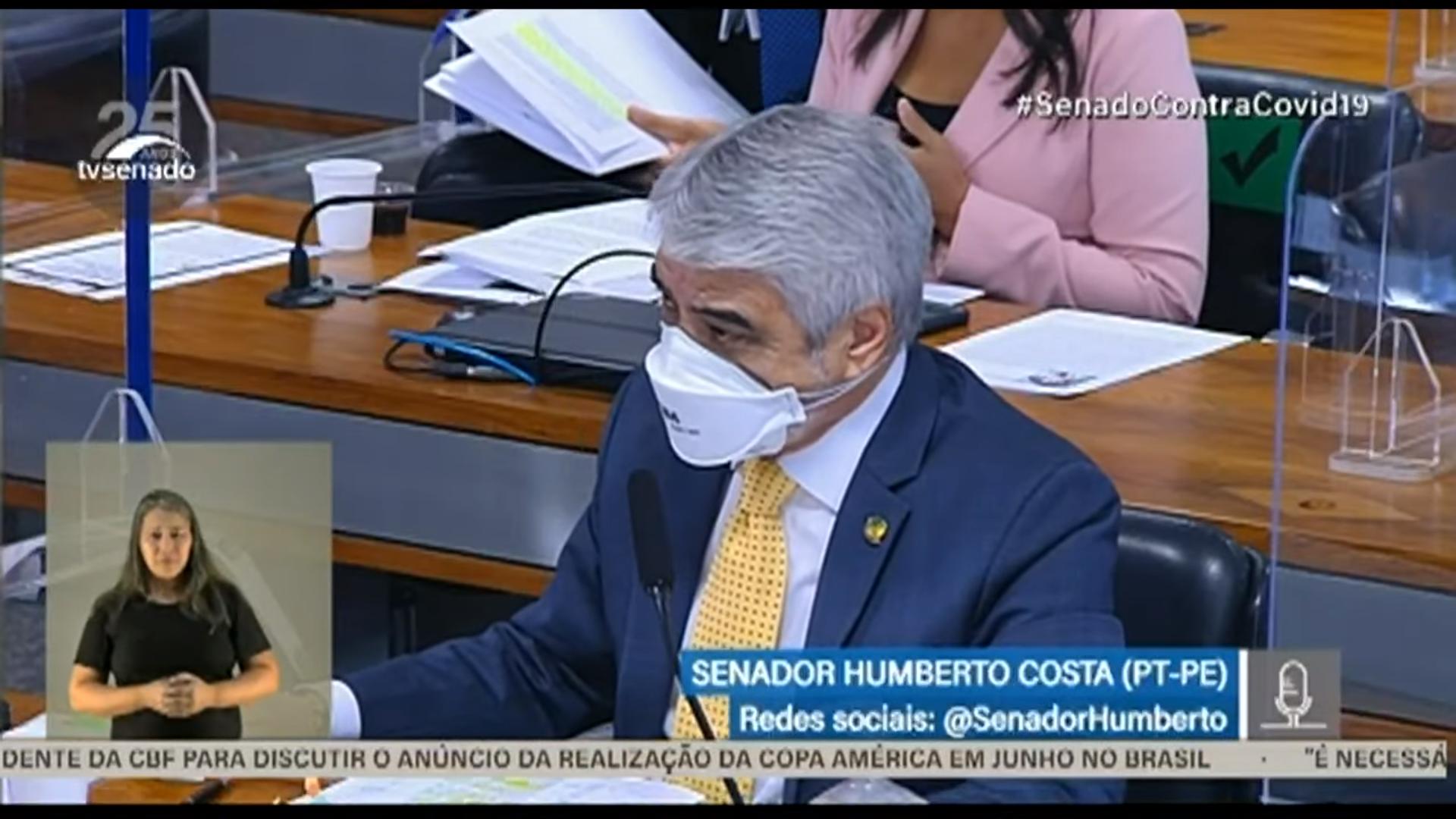 IMAGEM: Humberto Costa chama Copa América de 'campeonato ridículo'