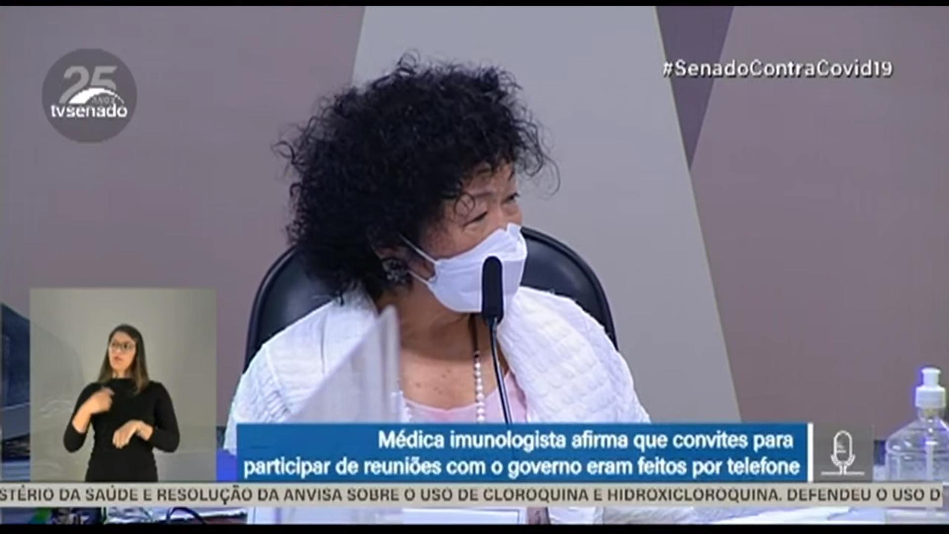 IMAGEM: Nise não mostra estudos científicos que confirmam o que ela disse sobre a cloroquina