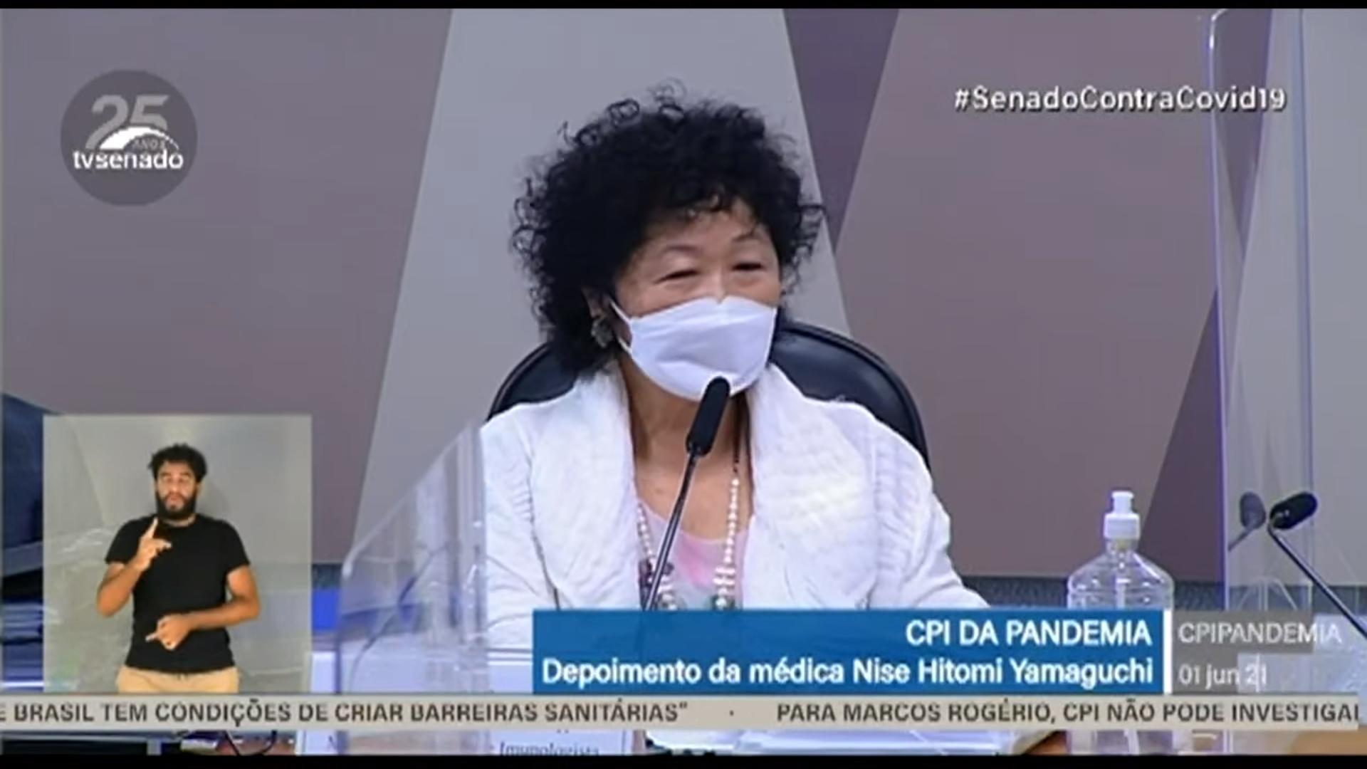 IMAGEM: Nise Yamaguchi confirma ter sugerido 'tratamento precoce' a secretário de Mandetta
