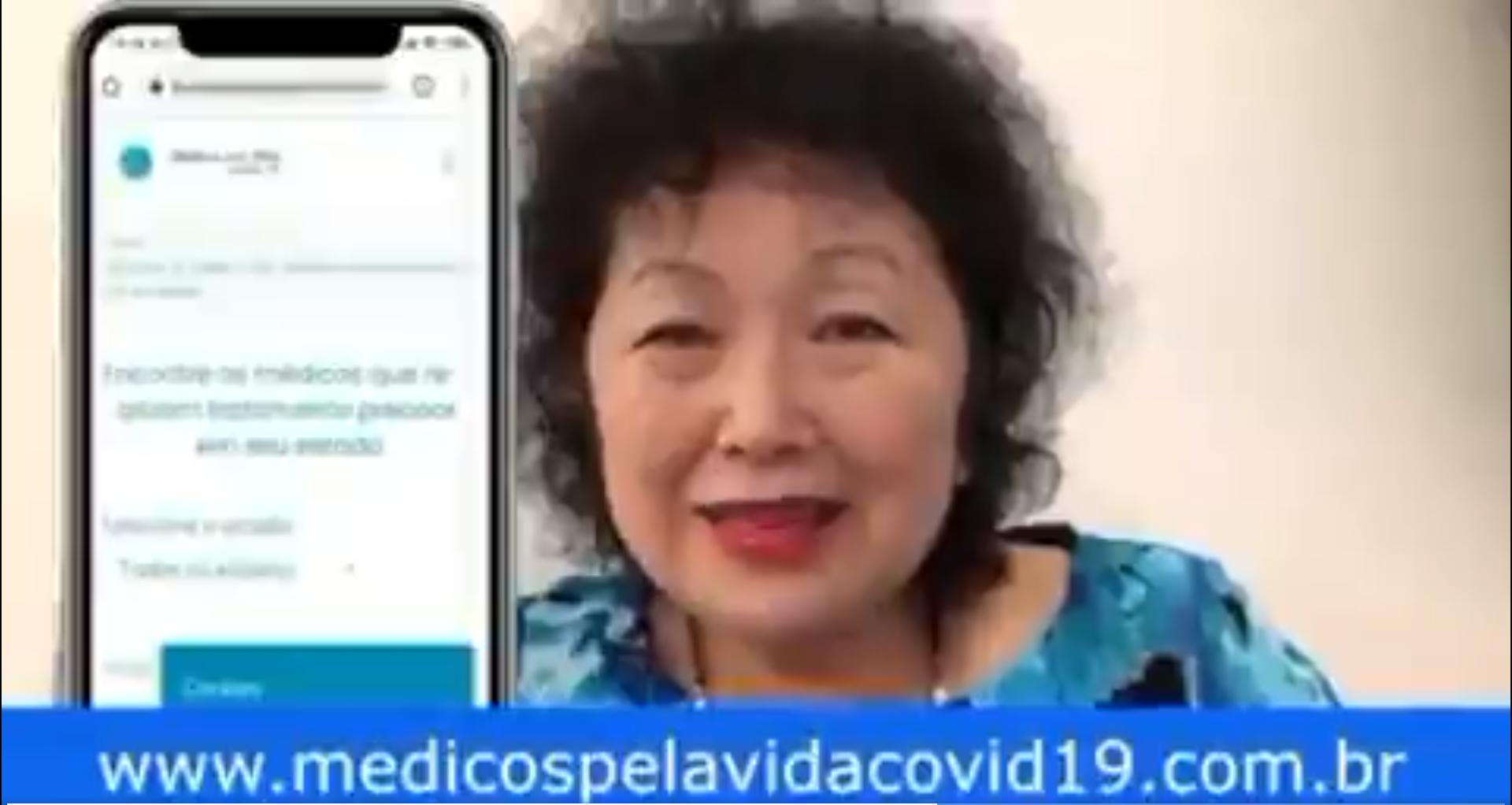 IMAGEM: Em vídeo, Nise Yamaguchi orienta 'tratamento precoce', que não tem eficácia