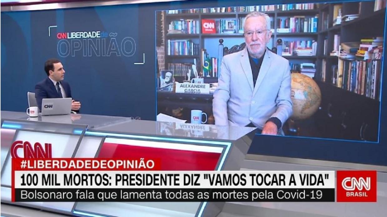 IMAGEM: Apresentador da CNN deixa quadro por causa de Alexandre Garcia