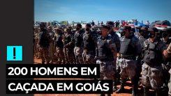 200 homens em caçada em Goiás