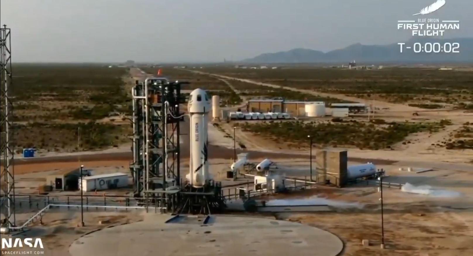 IMAGEM: Assista ao momento em que Jeff Bezos decola para o espaço