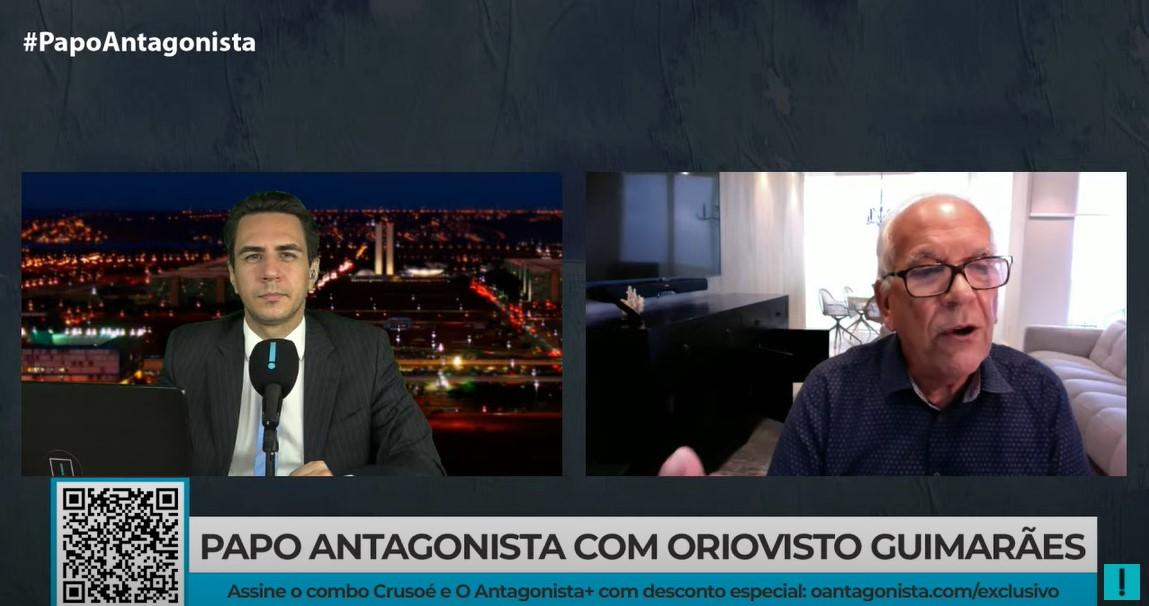 """IMAGEM: """"Até hoje, ele não disse 'não'"""", diz Oriovisto, sobre candidatura de Moro"""