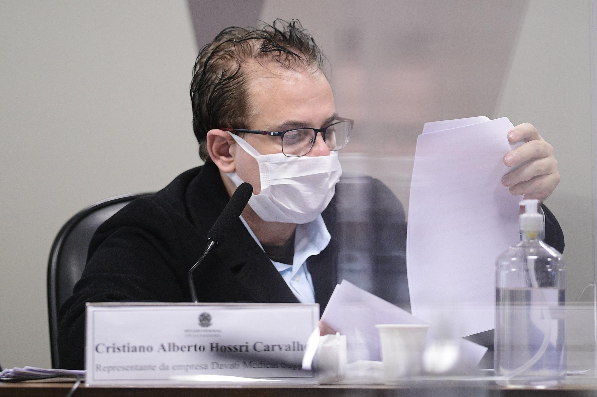 IMAGEM: Representante da Davati cita seis militares nas negociações por vacinas