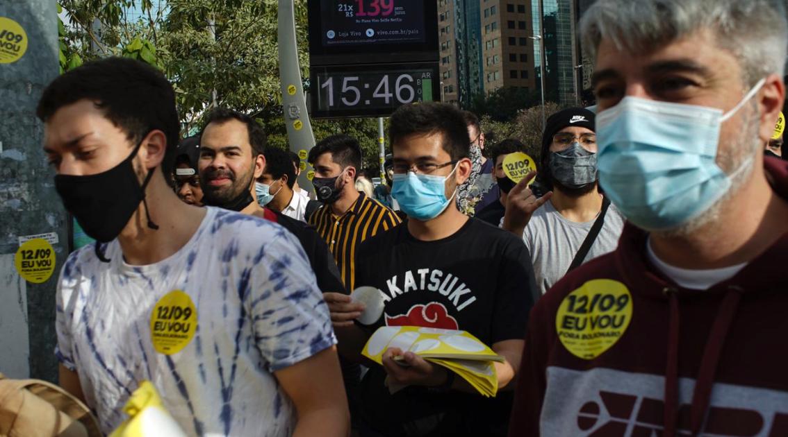 IMAGEM: MBL chama para manifestação contra Bolsonaro