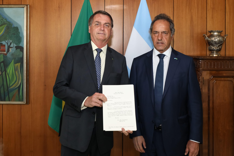 IMAGEM: Crítico da Argentina, Bolsonaro diz a embaixador que só há rivalidade no futebol