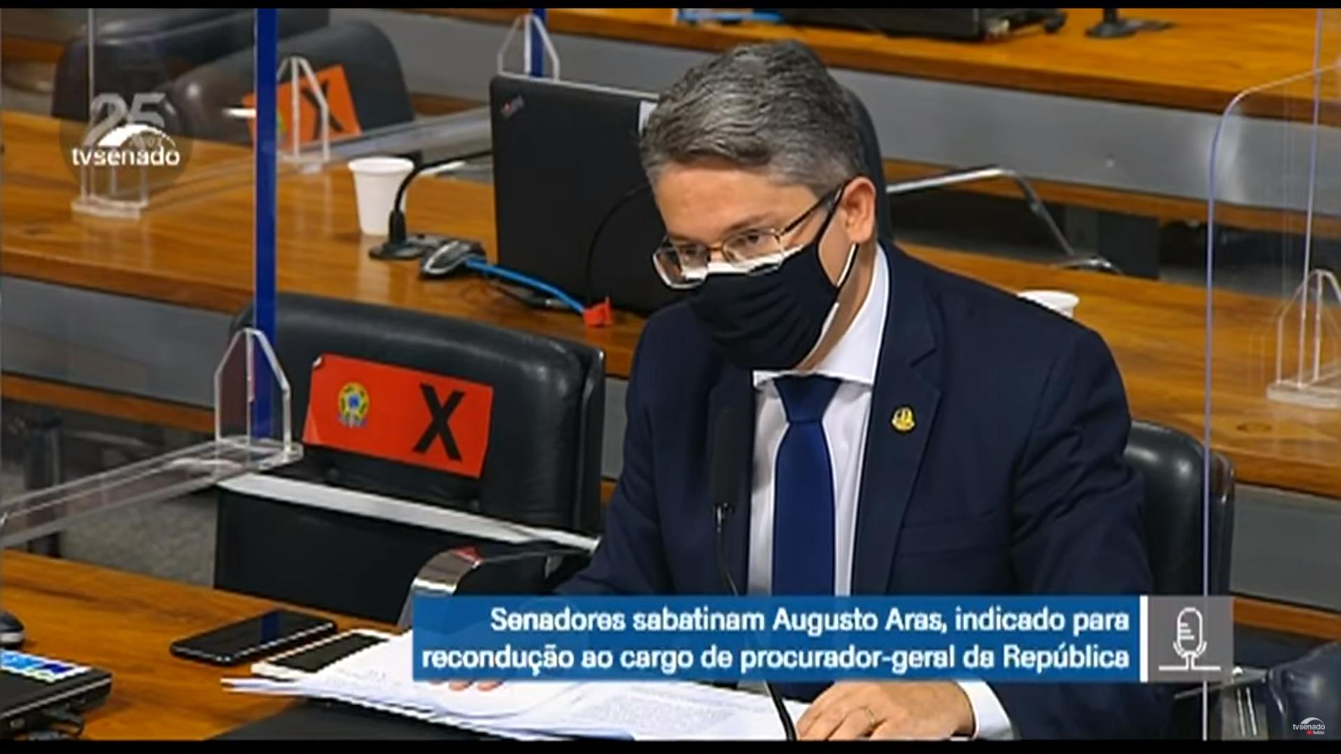 IMAGEM: Alessandro Vieira diz que não dá pra votar em Aras