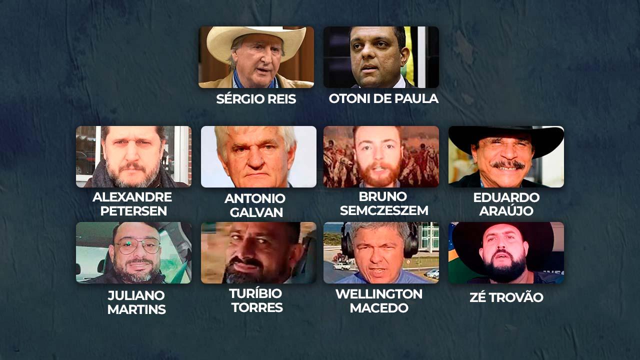 IMAGEM: Quem é quem no inquérito do 7 de setembro