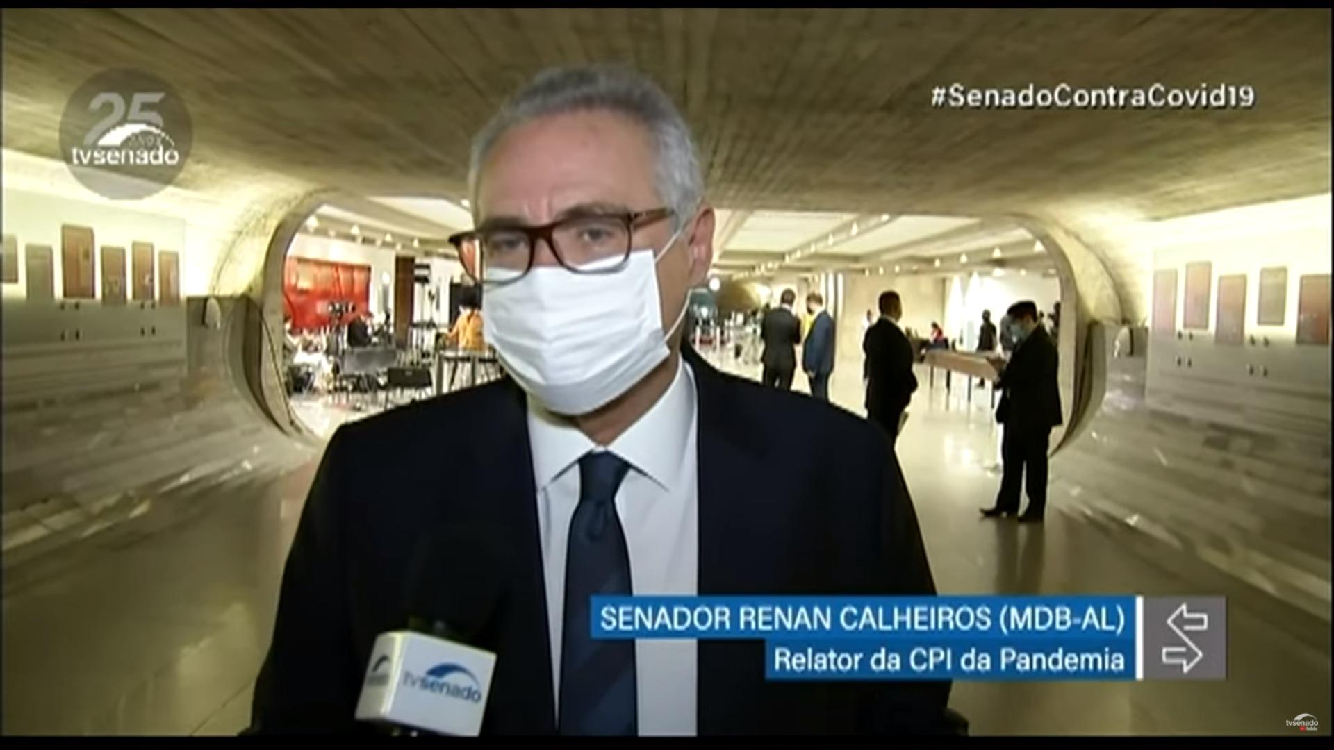 IMAGEM: Renan anuncia nomes de mais 3 investigados na CPI
