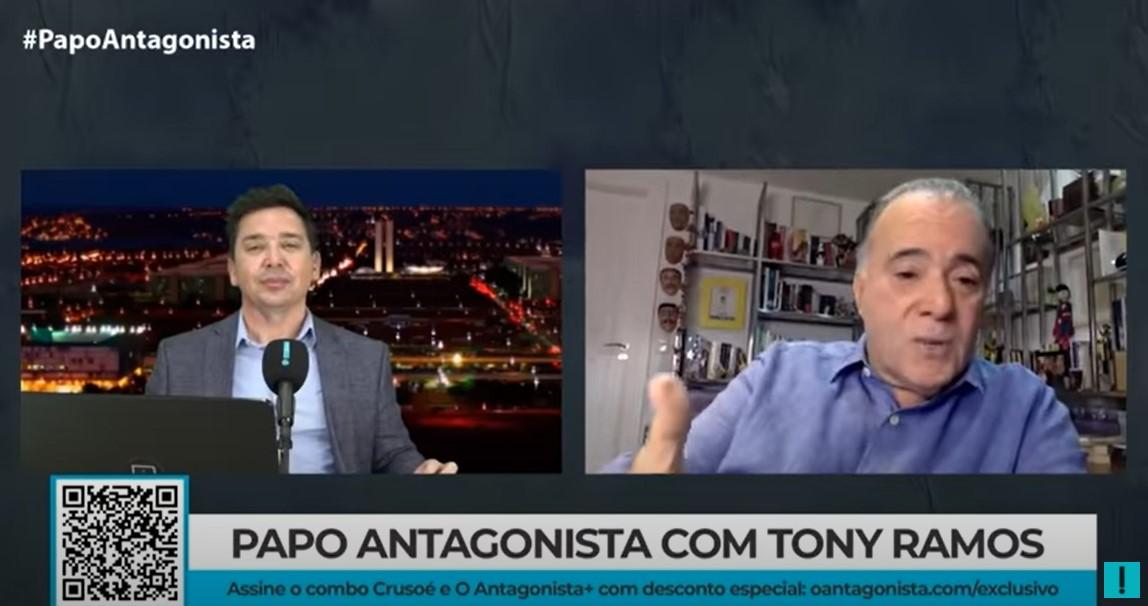 """IMAGEM: Tony Ramos: """"Regina Duarte se iludiu"""""""