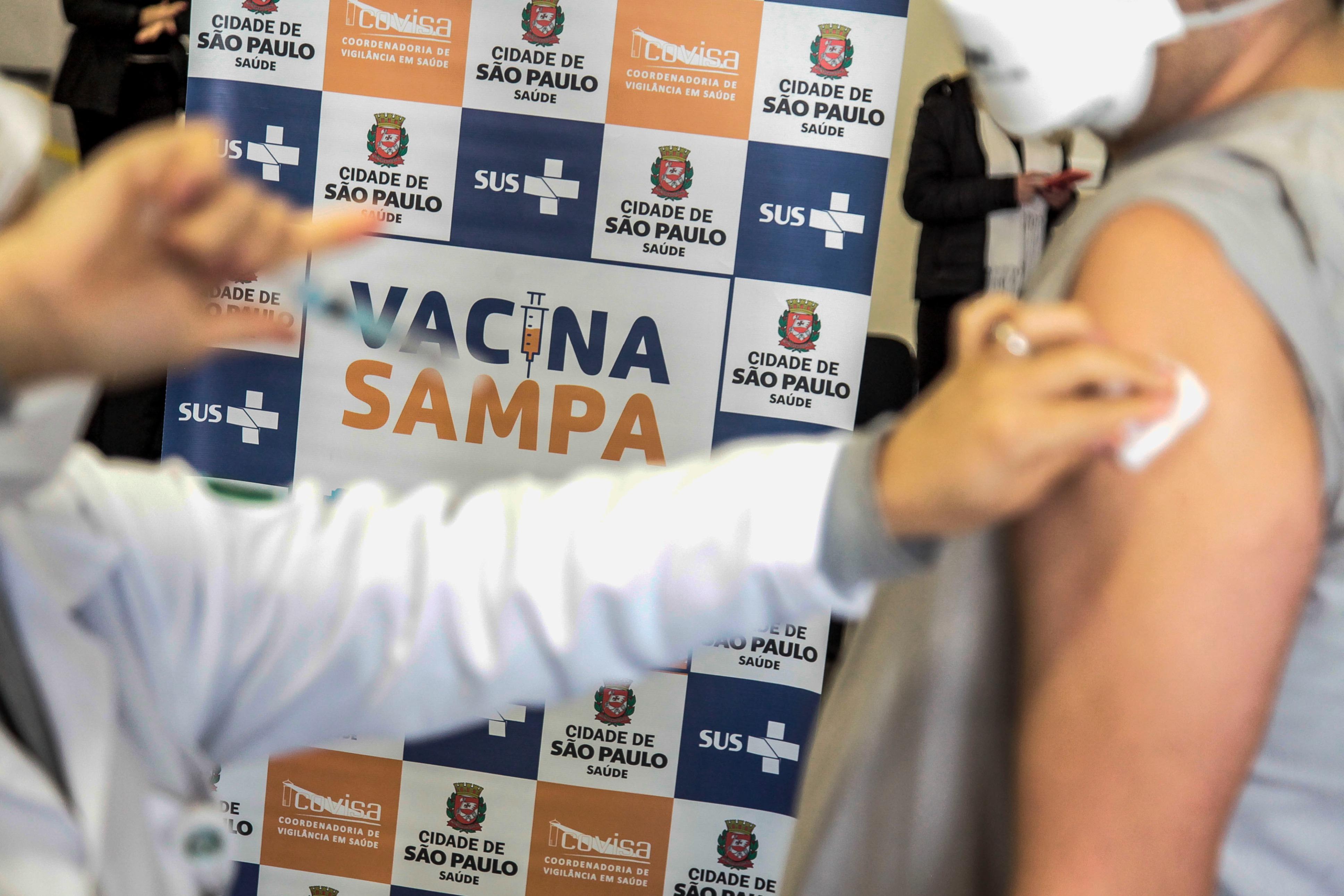 IMAGEM: '100%' de adultos vacinados em São Paulo não são bem assim