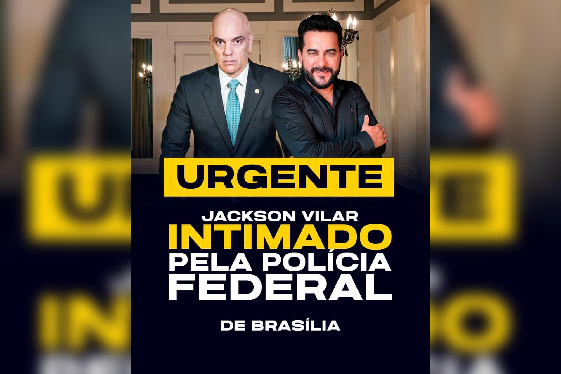 IMAGEM: Bolsonarista ostenta 'intimação de Moraes'
