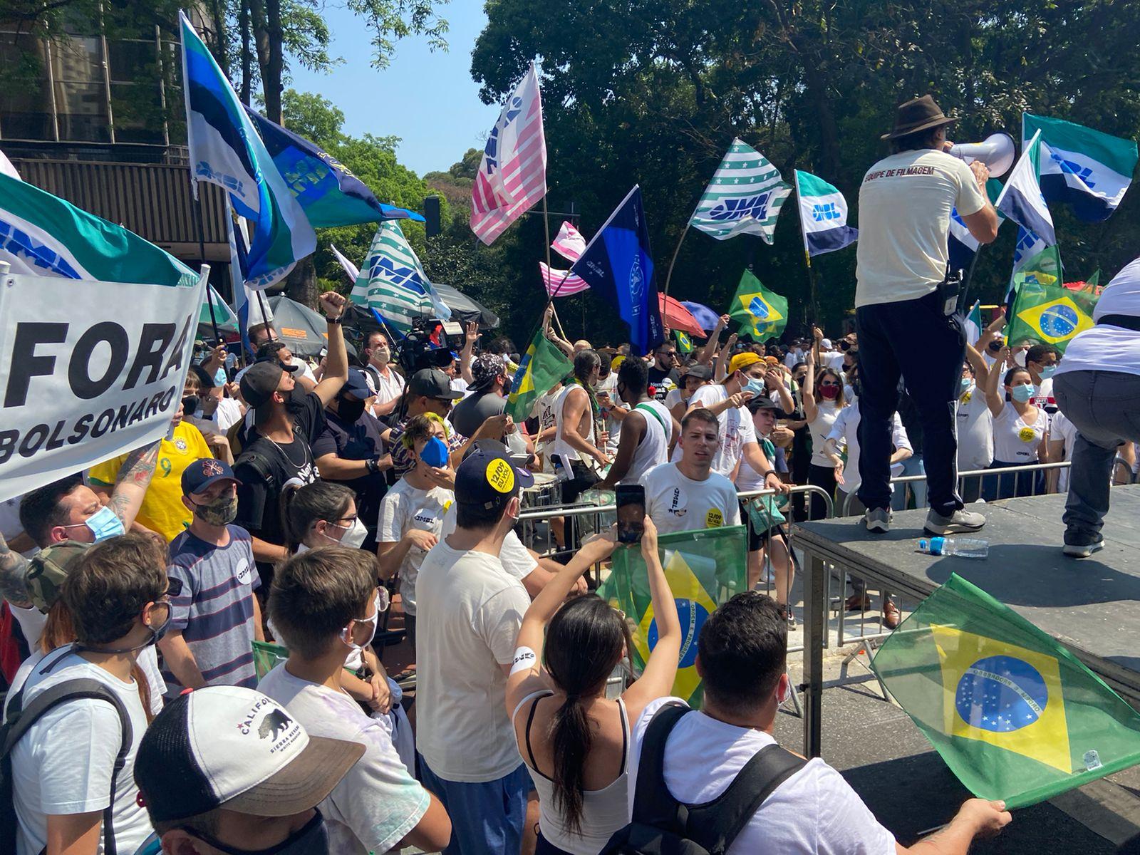 IMAGEM: Secretaria de Segurança estima 6 mil em ato na Paulista