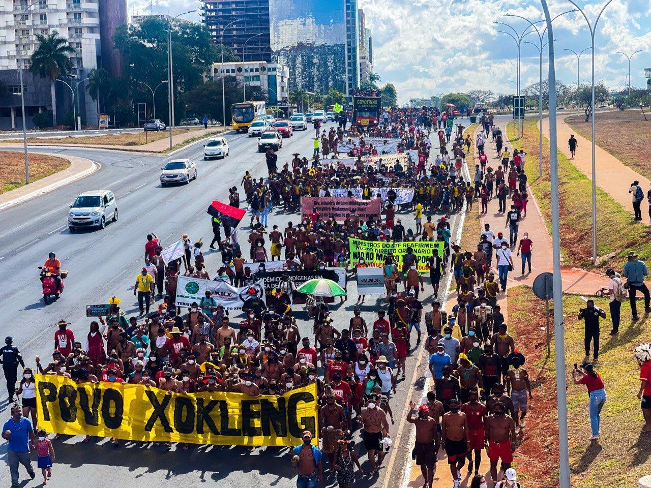 IMAGEM: Índios cancelam manifestações em Brasília