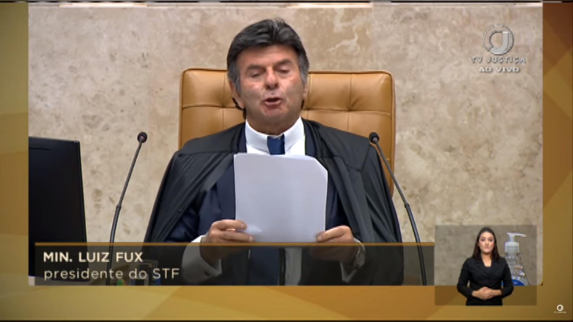 "IMAGEM: ""Ninguém fechará esta Corte"", diz Luiz Fux"